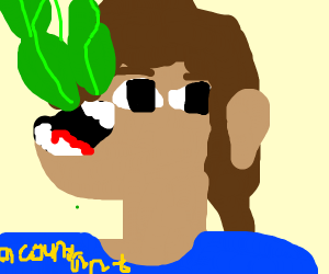 Accountant eating Spinach