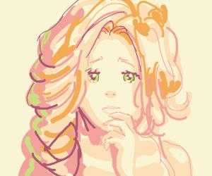 Crying anime woman