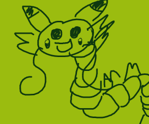 pikachu with Gyarados body and little pp