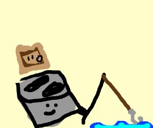 toaster goes fishing