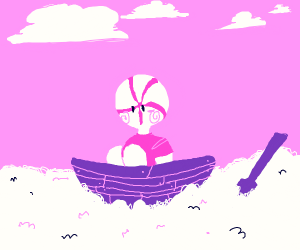 peppermint man sailing the cotton candy seas
