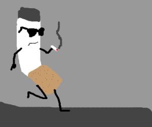 a cigarette smoking