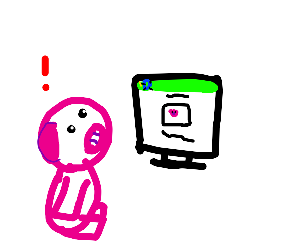 Pig sees a drawing of it on Drawception