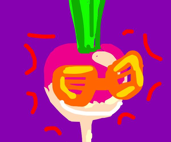 funky looking radish