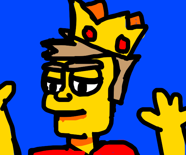 some simpson wearing a crown