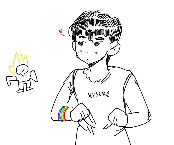 Yusuke being gay