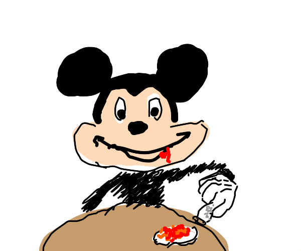 Mickey Mouse salting beans