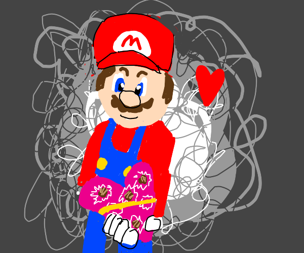 Mario on valentines day