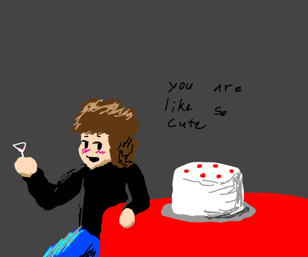 Flirting with a cake