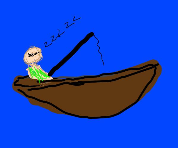 sleeping while fishing