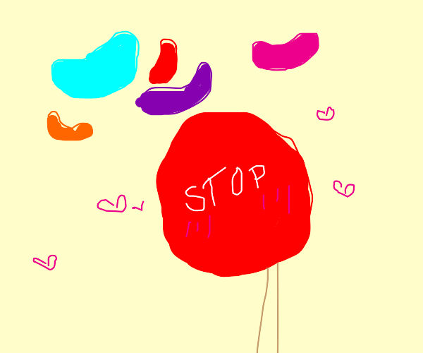 stop signs love jelly beans