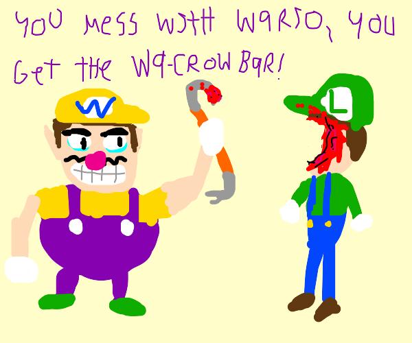 Wario kills luigi