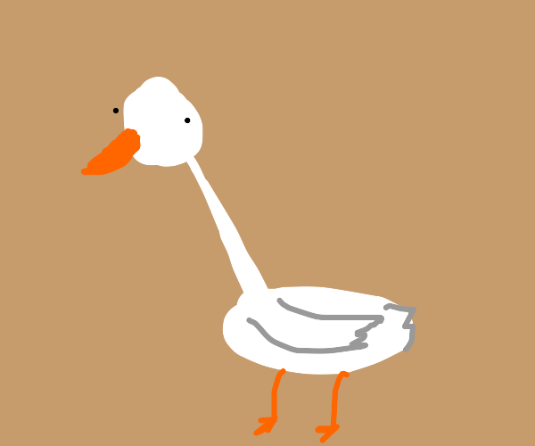 Goose with a pointy neck