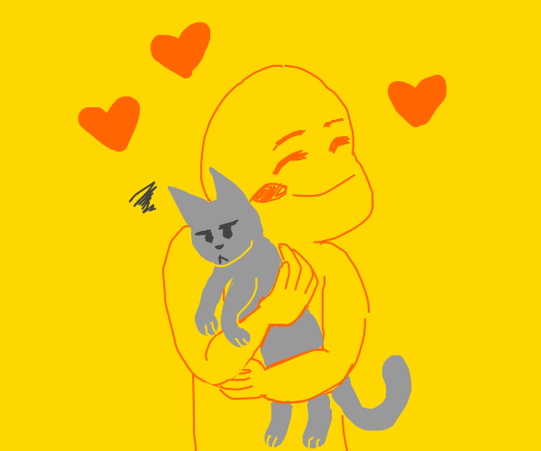 Kitty does not return the love