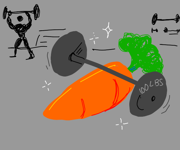 Carrot in a gym