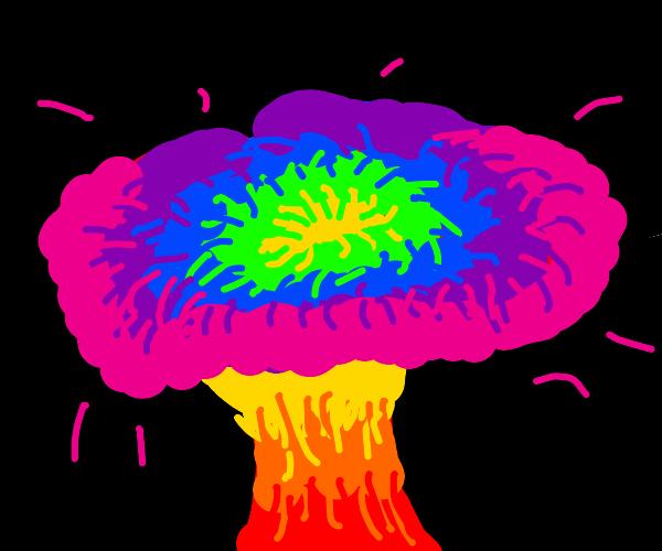 @8 glass of milk: it's a rainbow explosion.