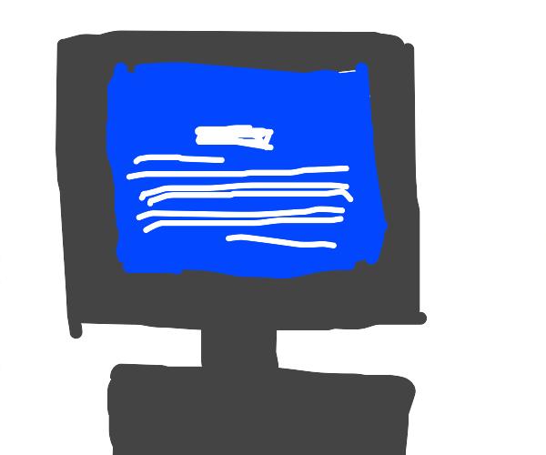 windows 95 blue crash screen