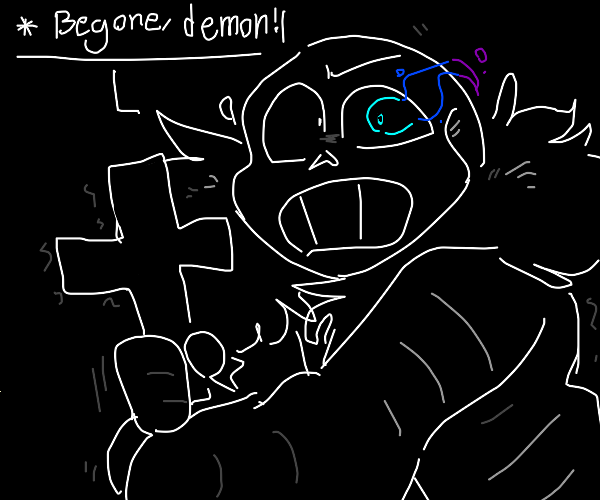 Sans uses the power of Christ to compel you