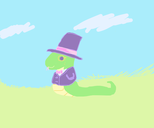 Snake in a suit