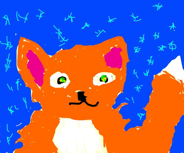Fox surrounded by sparkles