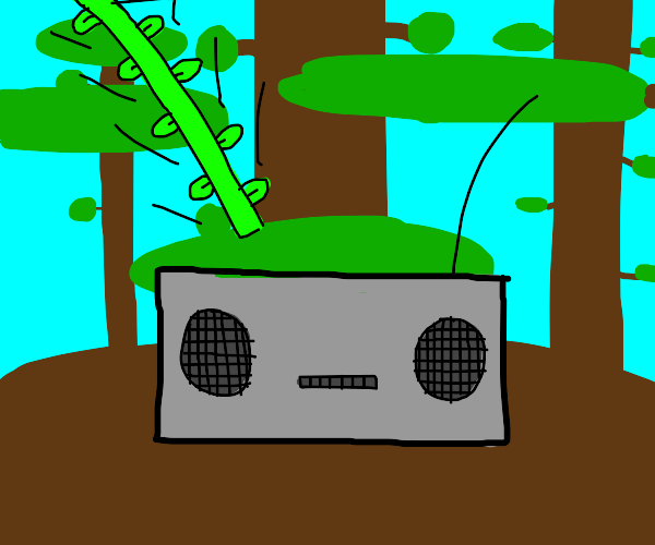 Radio being attacked by vines