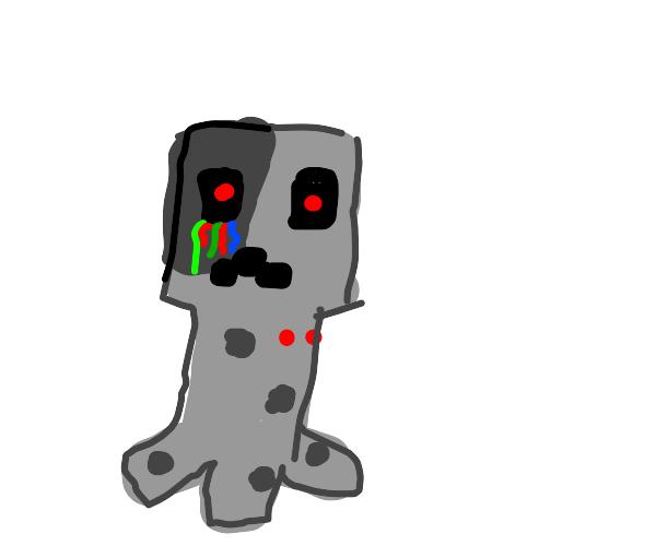 cyborg creeper (aww man)