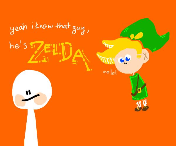Isn't Zelda the one in green?