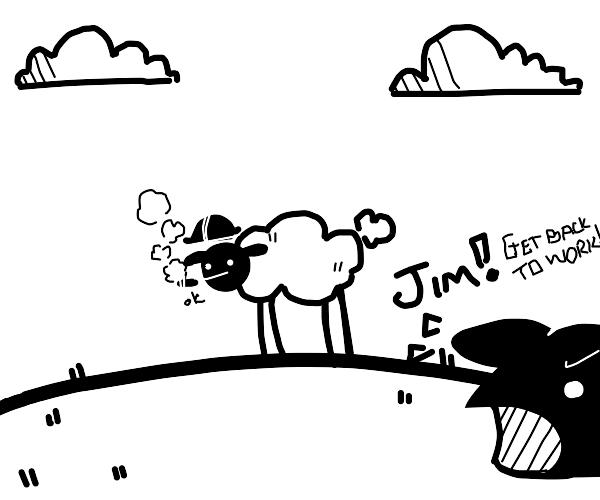 Smoking work sheep