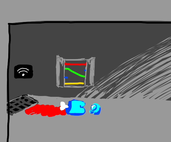 cyan or blue crewmate body