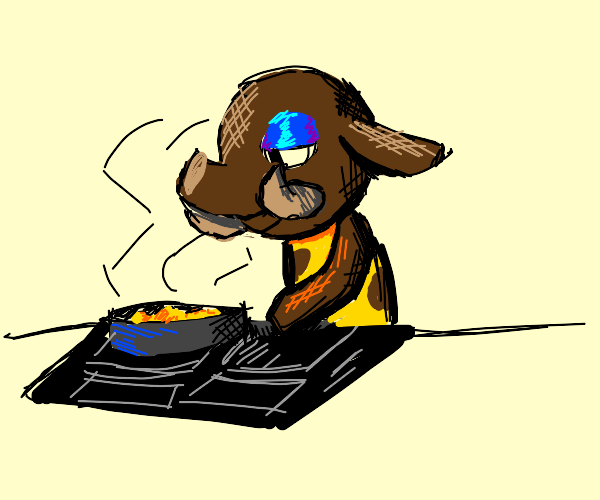 tucker animal crossing cooking lunch