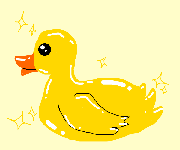 A very shiny duckie!