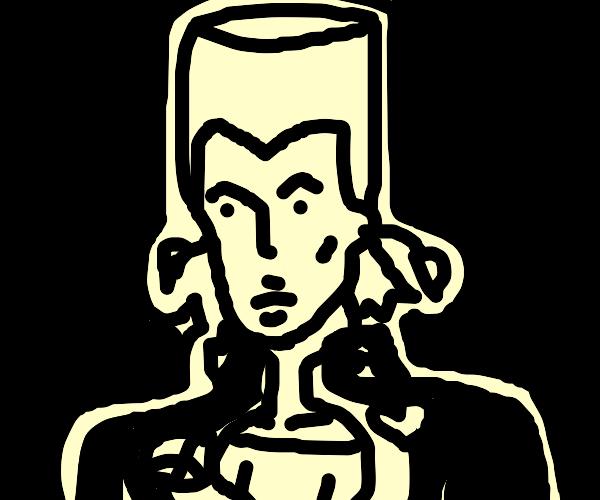 Josuke Higashikata with Polnareff's hair