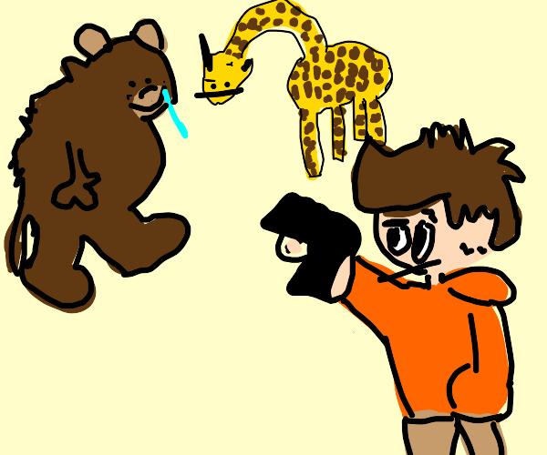 Shoot bear or giraffe
