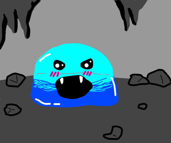 Cute slime tries to be scary, but is too cute