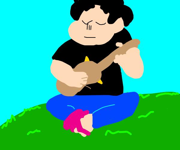 SUF Steven playing ukulele
