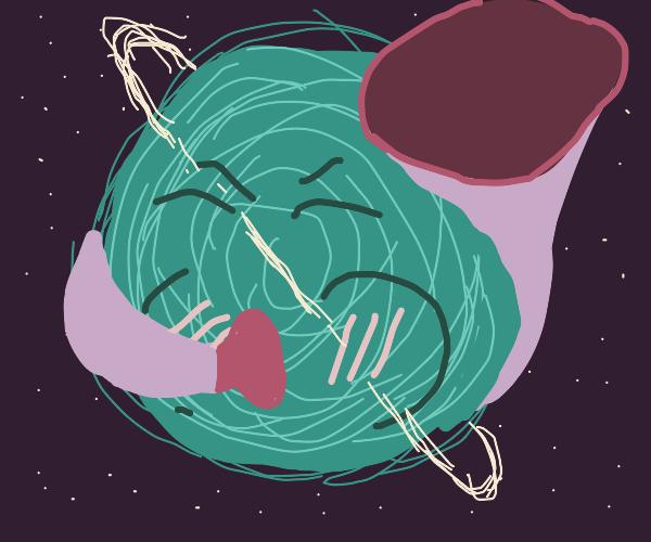 Planet plays tuba