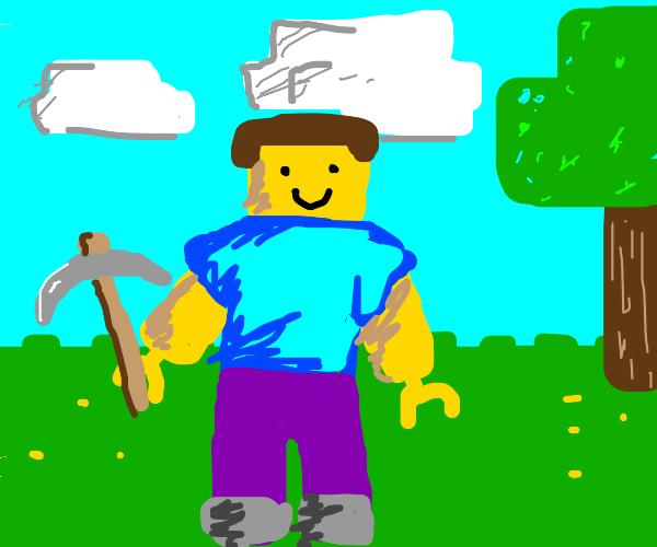 Minecraft steve as a lego man