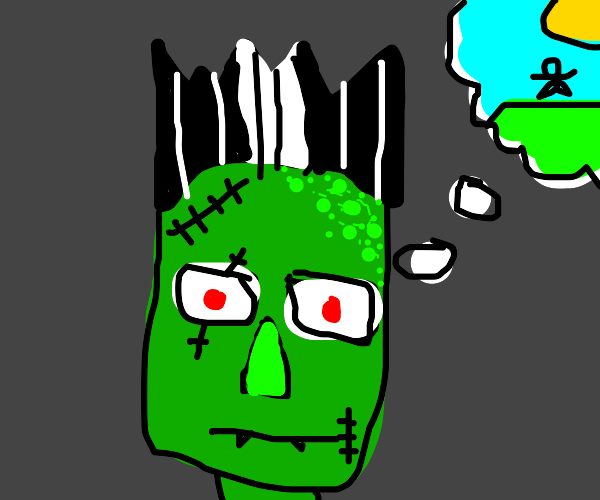 Frankenstein daydreaming