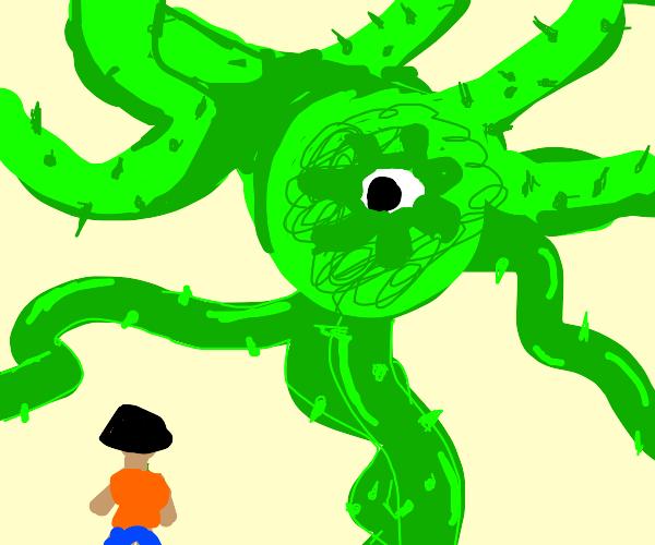 Giant plant monster