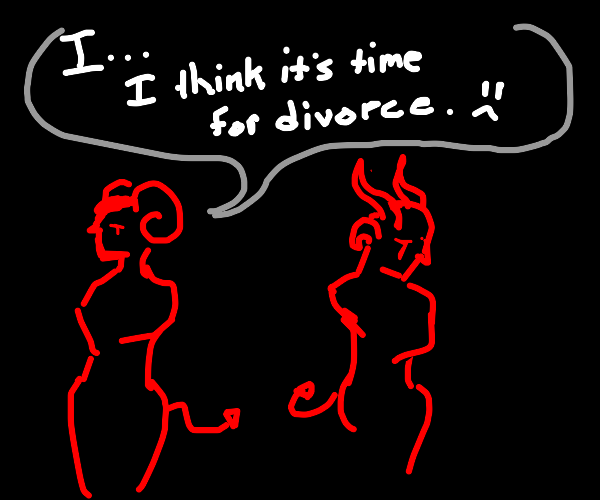 Demon husband wants to divorce with wife