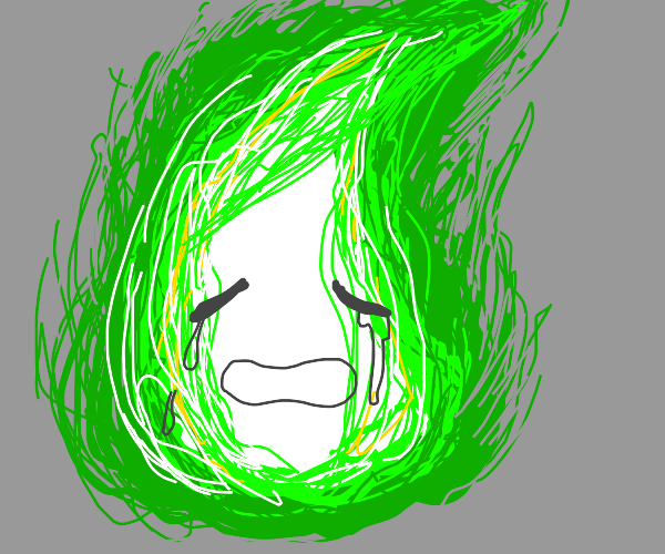crying green fire