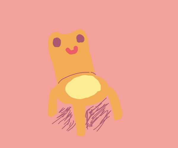Orange Froggy Chair