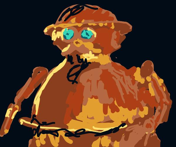 Fat steampunk robot