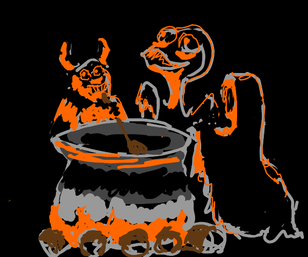 Demons cooking soup