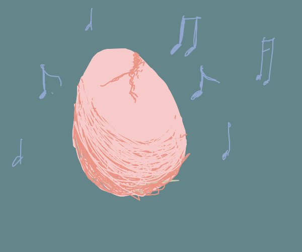 Egg hatches to music