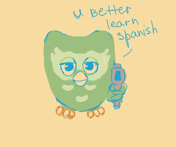 Furby x Duolingo Bird