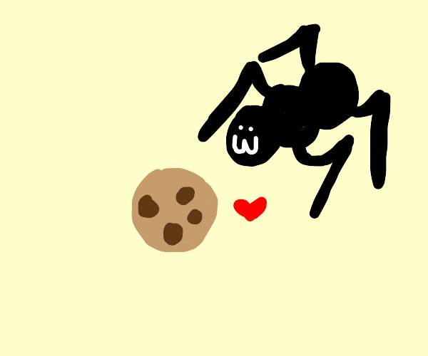 Spider loves his cookie