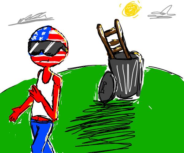 America puts ladder in the TRASH