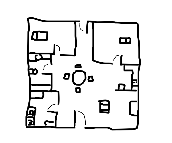 A map of the house