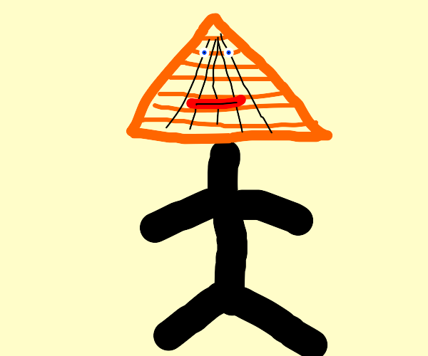person with a pyramid face